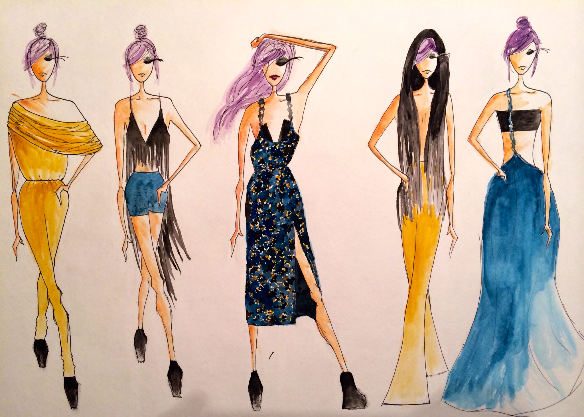 Clothing Designer Sketches and clothing design